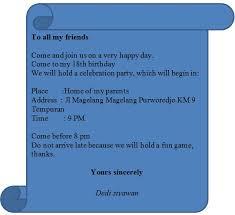 contoh surat undangan ulang tahun bahasa inggris miung