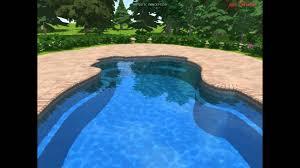 Blue Haven Pools Tulsa by 3d Fiberglass Swimming Pool Design For Santa Fe Pool Model By