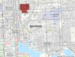 Map Of Baltimore Md How Does Moving A Prison Complex Support Development In Baltimore