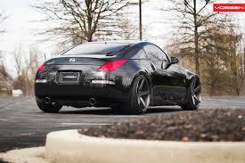 nissan 350z matte black vossen wheels nissan 350z vossen cv3r