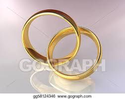 wedding rings together clipart gold wedding rings together stock illustration