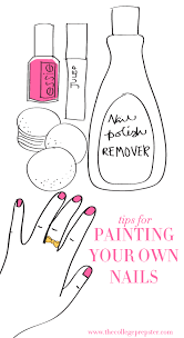 how to paint your own nails the college prepster