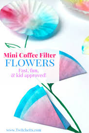 upcycled crafts for kids mini coffee filter flowers twitchetts