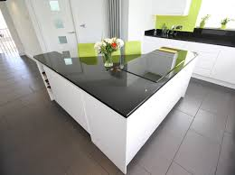 second nature remo white gloss units black granite worktop and