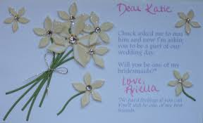 asking bridesmaids cards will you be my bridesmaid after the knot