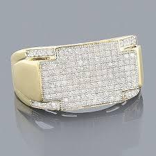 mens gold diamond rings mens yellow gold diamond ring 10k 0 65ct