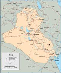 Iraq Map World by General Maps