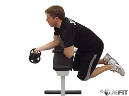 Bench Exercises With Dumbbells Dumbbell One Arm Wrist Curl Over Bench Exercise Database Jefit