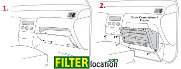 2001 2004 nissan pathfinder cabin air filter location