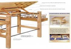 Drafting Table Plans Amazing Drafting Table Woodworking Plans Knockdown Drafting Table