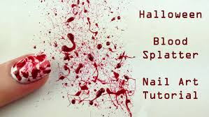 blood splatter nail art tutorial halloween nails youtube