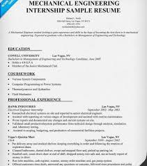 mechanical engineering resume gallery of mechanical engineering intern resume