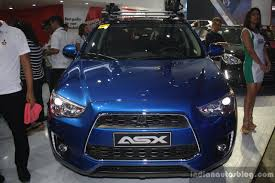 mitsubishi asx 2014 2015 mitsubishi asx front at the campi 2014 indian autos blog