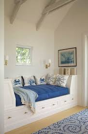 built in daybeds family room beach style with custom day bed blue