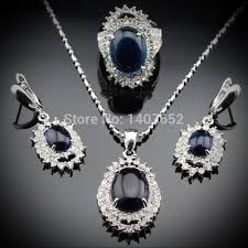 blue sapphire necklace sets images Sapphire necklace and bracelet set just another wordpress site jpg