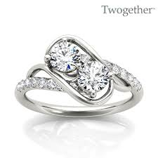 stone rings images 14k diamond two stone ring twogether alexis diamond jpg