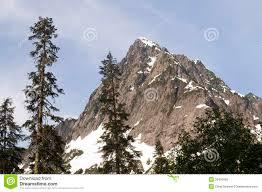 Rugged Mountain Range Rugged Jagged Peak North Cascade Mountain Range Washington State