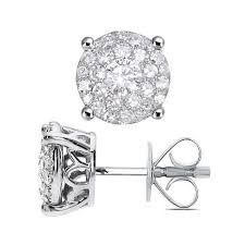 white gold studs diamond couture 14k white gold 0 25ctw diamond shape stud