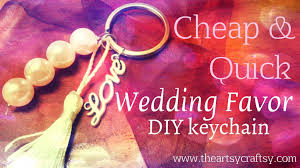 wedding favor keychains how to make a wedding favor keychain