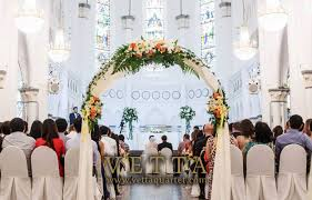 wedding arches singapore wedding at chijmes