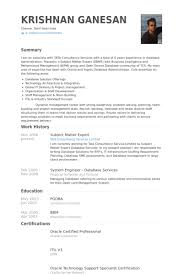 Statistician Resume Sample by Subject Matter Expert Resume Samples Visualcv Resume Samples