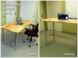 Standing To Sitting Desk Adjustable Height Sitting And Standing Desk Simplified Building