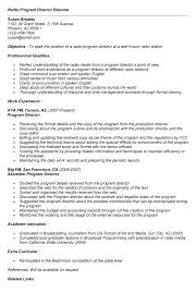 Best Resume Programs by Radio Promotions Director Cover Letter Resume For Promotion