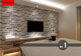 modern stacked brick 3d stone wallpaper roll grey brick wallpaper