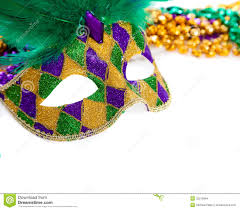 green mardi gras marid gras mask and on white stock photo image of orleans
