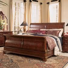 Cherry Wood Sleigh Bedroom Set Grace Solid Oak Rattan Bed Frame Easy Natural Com Wooden Sleigh