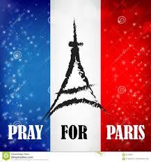 Paris Flag Pray For Paris Words With Landmark Symbol On France Flag Bokeh A
