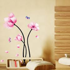 compare prices on cool wall decor online shopping buy low price new fasion flower lotus diy art wall decor sticker vinyl removable paper home hot cool good