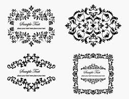 free 4 vintage floral ornaments vector titanui