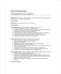 Sample Resume Content by Technical Writer Resume Template 6 Free Word Pdf Documents