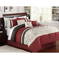 Red Bedroom Comforter Set Better Homes And Gardens 7 Piece Burgundy U0026 Brown Vines Bedding