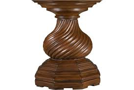 Drexel Heritage Dining Room Furniture Cortona Dining Table Pedestal From The Gourmet Dining Collection
