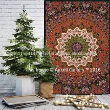 wholesale mandala tapestry home decor star elephant glow in the
