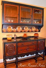 beautiful buffet transformation by revive in style metallic