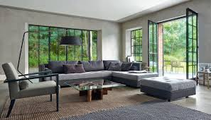 canapé d angle ligne roset canapé modulable d angle contemporain en tissu nomade 2