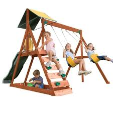 Sears Backyard Playsets Swing N Slide Playsets Knightsbridge Wood Complete Playset Pb 9241