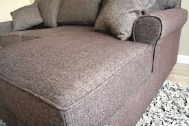 small sectional sofa in brown fabric