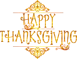 clipart gold happy thanksgiving typography variation 2 no background