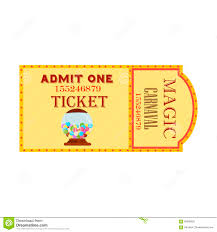ticket template free download circus big magic show with trained animals two vintage entrance