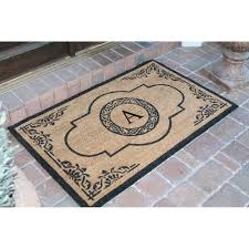 tips double door doormat monogram doormat monogrammed welcome mat