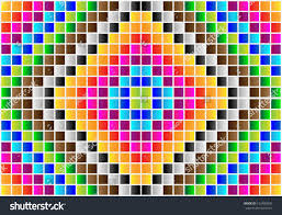 colorful symmetrical mosaic ornaments stock vector 163480835