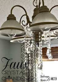 Faux Crystal Chandeliers Faux Crystal Chandelier Salvage Sister And Mister