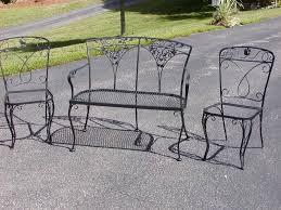Rod Iron Patio Chairs Wrought Iron Patio Chairs Fan Back Jacshootblog Furnitures