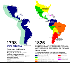 Map Of Columbia South America by Congress Of Panama Wikipedia
