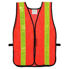 Construction High Visibility Clothing One Size Fits All Safety Vests Safety Gear The Home Depot