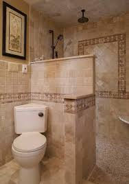 Small Bathroom Walk In Shower Designs Walk Shower Mediterranean - Bathroom designs with walk in shower
